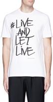 Neil Barrett '#LIVE AND LET LIVE' graffiti print T-shirt