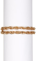 Steve Madden Toggle Lock Curb Chain Bracelet