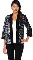 Bob Mackie Bob Mackie's Open Front Floral Sequined Jacket