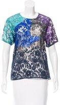 Cynthia Rowley Metallic Short Sleeve Top