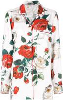 Dolce & Gabbana floral print pyjama shirt