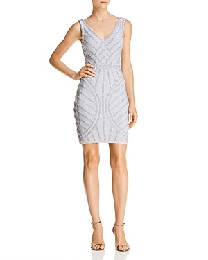 Avery G Beaded Cocktail Dress