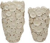 Twos Company Textured Flower Vases (Set Of 2)
