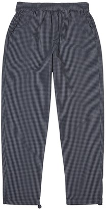 Wood Wood Halsey checked cotton trousers