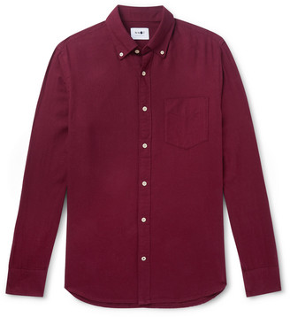 NN07 Levon Button-Down Collar Cotton-Flannel Shirt