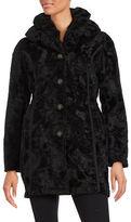 Laundry by Shelli Segal Reversible Faux Fur-Trimmed Coat