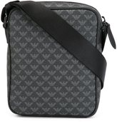 Emporio Armani logo patterned crossbody bag