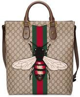 Gucci Web Animalier GG Supreme tote with bee