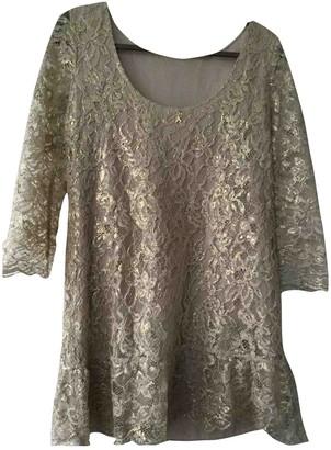 Patrizia Pepe Gold Lace Dress for Women