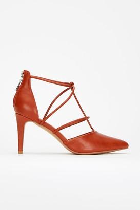 Wallis **Brown Strappy Court Shoe