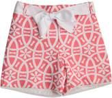 cesar blanco Coral & White Shorts