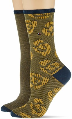 Tommy Hilfiger Women's Th Sock 2p Flower