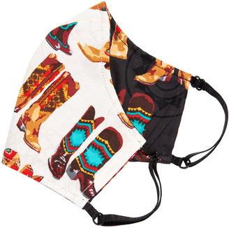 L. Erickson Love II Reversible & Reusable Cloth Face Mask Covering, Line Dancer