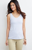 J. Jill Striped Perfect V-Neck Tank