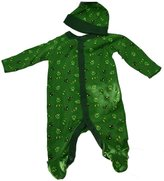 John Deere Green Footed Sleeper With Hat Set (12 Month)