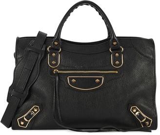 Balenciaga Classic City Metal Edge Small Black Shoulder Bag