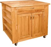 Catskill Craft Deep Storage Medium Island Kitchen Cart