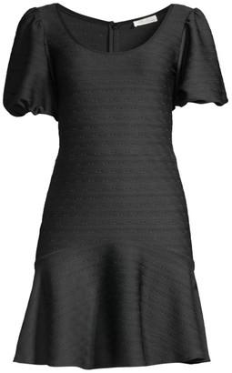 Shoshanna Kosmo Puff-Sleeve Dress