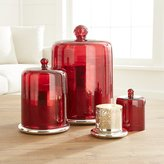 Crate & Barrel Scented Candles with Red Cloche Top