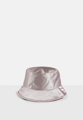 Missguided Look Satin Bucket Hat