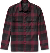 Theory Mory Buffalo-Checked Virgin Wool Overshirt