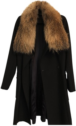 Amanda Wakeley Black Raccoon Jacket for Women
