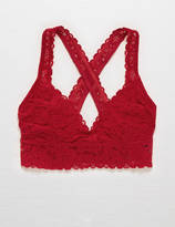 aerie Lace Cross-Back Bralette