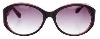 Derek Lam Gradient Round Sunglasses