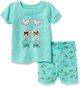Old Navy 2-Piece Sunglasses-Graphic Sleep Set For Toddler & Baby