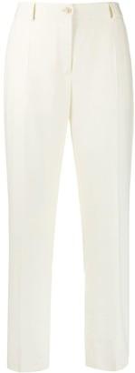Agnona Wool Flannel Straight-Leg Trousers