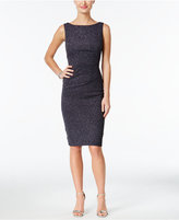 Jessica Howard Petite Ruched Sparkle Sheath Dress