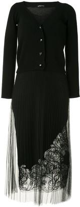 Ermanno Scervino Cardigan Layer Cashmere Dress
