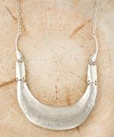 Nautilus Silvertone Curve Bib Necklace