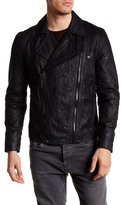 True Religion Double Zip Genuine Leather Moto Jacket