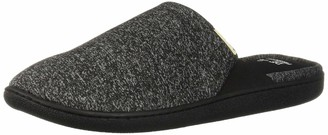 Dearfoams Women's Knit Closed Toe Scuff Slipper Black S Regular US