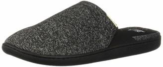 Dearfoams Women's Knit Closed Toe Scuff Slipper Black XXL M US