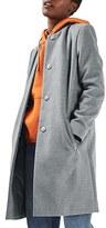 Topshop Women's Meg Ribbed Trim Coat