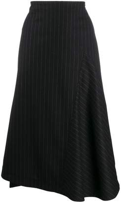 Odeeh pinstriped midi skirt