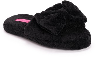 Betsey Johnson Quilted Terry Cloth Slide Slippers