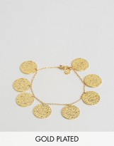 Gorjana Gold Plated Coin Bracelet
