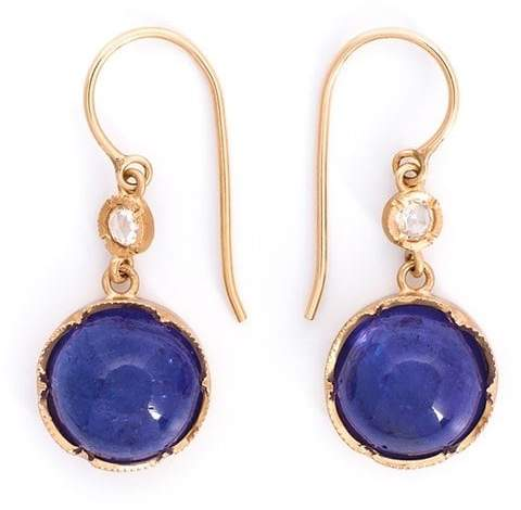 Irene Neuwirth tanzanite and diamond drop earrings