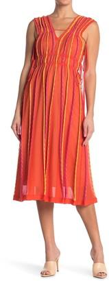 M Missoni Side Tie Stripe Print Dress