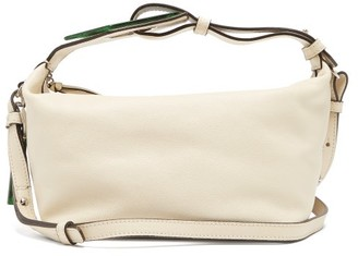 Ganni Emerald-effect Plaque Leather Bag - Womens - White Multi