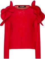 Junya Watanabe Ruffled Wool Sweater - Red