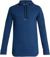 Balmain Logo-appliqué hooded cotton sweatshirt