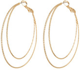 Natasha Accessories 2 Layer Hoop Earrings