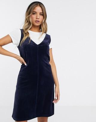 Pieces corduroy dungaree dress