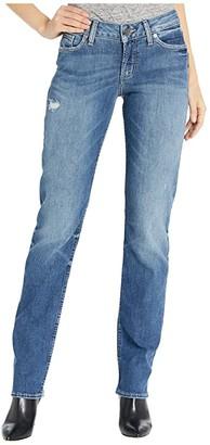 Silver Jeans Co. Suki Mid-Rise Curvy Fit Straight Leg Jeans in Indigo L93413SOP272-