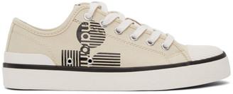 Isabel Marant Beige Binkoo Low-Top Sneakers
