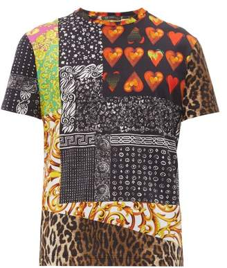 Versace Multi-print Cotton T-shirt - Mens - Multi